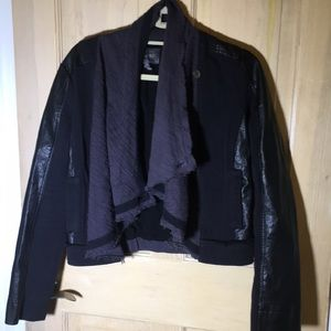 Miss me black and grey cropped jacket size S